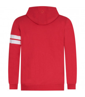 GCDS KIDS Red kids sweatshirt with white logo