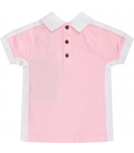BURBERRY KIDS Pink babygirl dress with logo