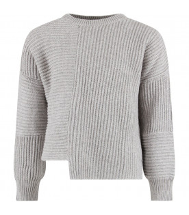 STELLA MCCARTNEY KIDS Grey girl sweater