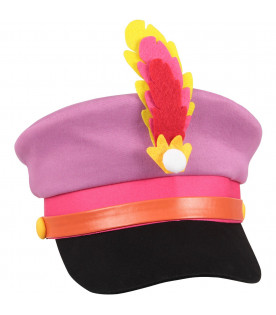 STELLA MCCARTNEY KIDS Cappello multicolor per bambina con pennacchio colorato