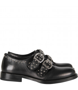 Black girl shoes with silver studs