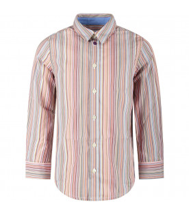 PAUL SMITH JUNIOR Multicolor boy striped shirt