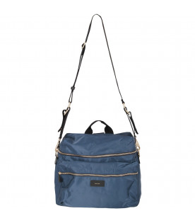 PAUL SMITH JUNIOR Borsa mamma blu per neonati