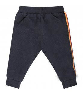 PAUL SMITH JUNIOR Blue babyboy reversible sweatpants