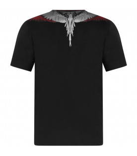 Black boy T-shirt with white, red and grey iconic wings