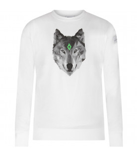 White boy T-shirt with grey and white woolf