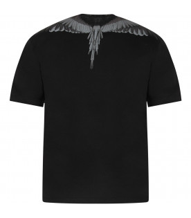 Black boy T-shirt with iconic wings