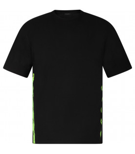 Black boy T-shirt with neon yellow and black iconic cross