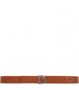 Camel belt for kids with iconic D