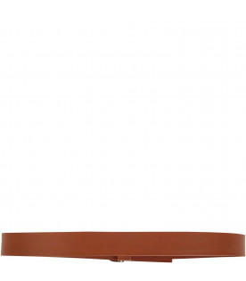 Camel kids belt with iconic D