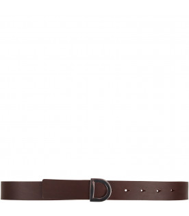 Brown kids belt with iconic D