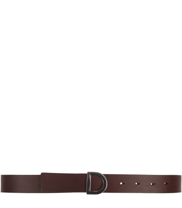DONDUP KIDS Brown kids belt with iconic D