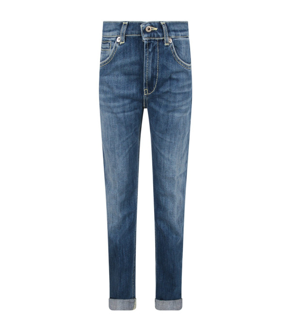 DONDUP KIDS Light blue ''George'' boy jeans with iconic D