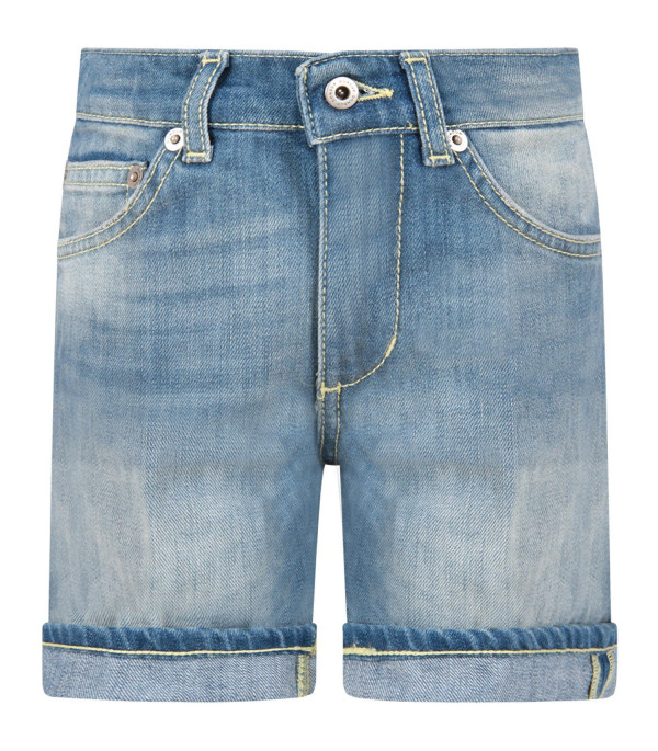 DONDUP KIDS Light blue ''Holly'' boy short with iconic D
