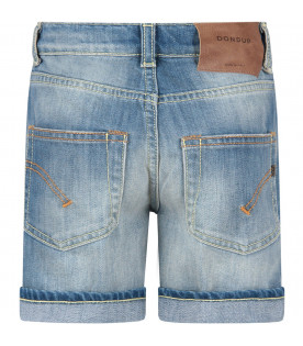 Light blue ''Holly'' boy short with iconic D