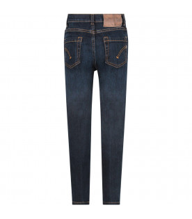 DONDUP KIDS Blue ''Roddy'' boy jeans with iconic D