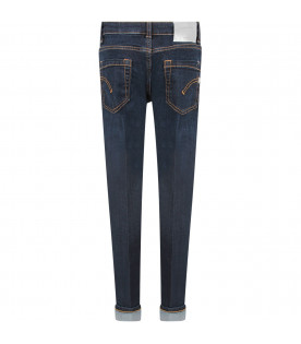 Blue ''Monroe'' girl jeans with iconic D