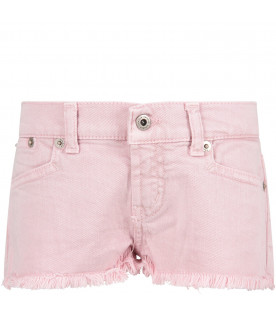 DONDUP KIDS Short ''Jude'' rosa per bambina con iconica D
