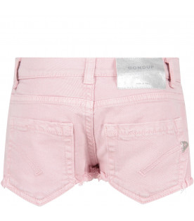Pink ''Jude'' girl short with iconic D