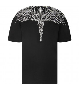 Black boy T-shirt with white iconic wings