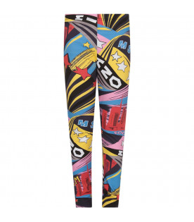 MSGM KIDS Leggings multicolor per bambina
