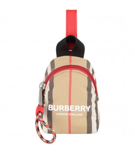 BURBERRY KIDS Beige kids coin case with white logo