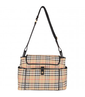 Vintage check babykids changing bag