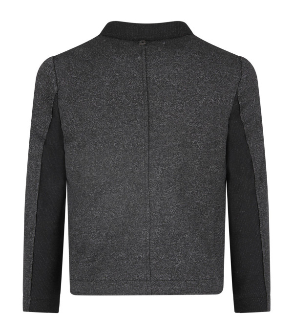 DONDUP KIDS Grey boy jacket with iconic D