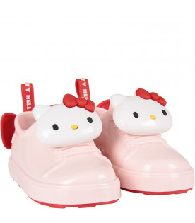Pink girl shoes with Hello Kitty