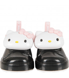 MINI MELISSA Black girl shoes with Hello Kitty