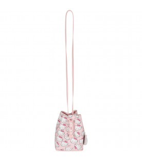 MINI MELISSA Borsa rosa per bambina con Hello Kitty colorati