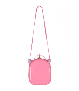 MINI MELISSA Pink and lilac girl bag shaped lie unicorn