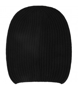 DONDUP KIDS Black kids hat with iconic D