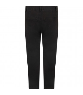 Black pants for girl with iconic D