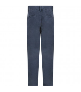 Blue pants for boy with iconic D