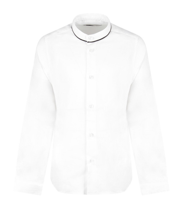 DONDUP KIDS White boy shirt with iconic D