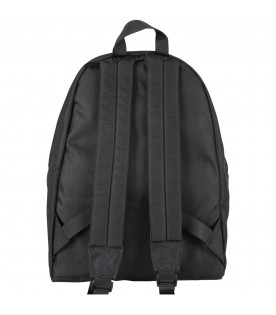 MARCELO BURLON KIDS Black boy backpack with red wing