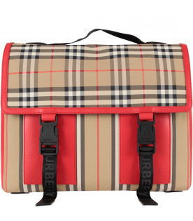Vintage kids checkes satchel