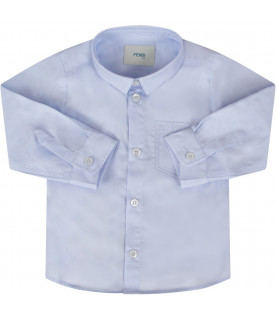 Light blue babyboy shirt with double FF
