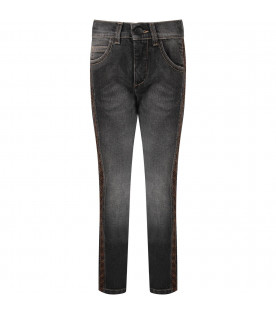 Grey boy jeans with iconic double FF