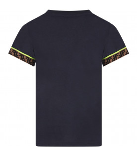 Blue boy T-shirt with iconic double FF