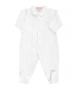 BONPOINT White babygirl babygrow with gold cherries
