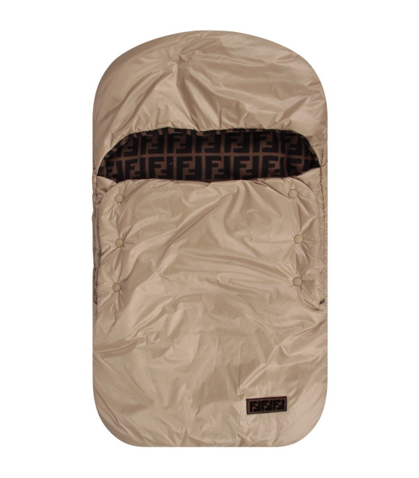 FENDI KIDS Beige babykids sleeping bag with double FF