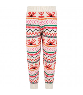 STELLA MCCARTNEY KIDS Leggings avorio per bambina