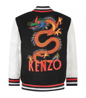 Black boy bomber jacket with japanese dragon