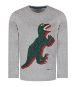 Paul Smith Junior Grey boy T-shirt with iconic dinosaur