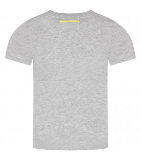 DSQUARED2 Grey kids T-shirt with ''Icon'' writing