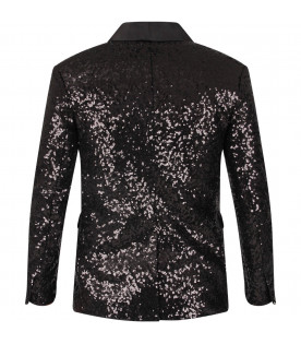 Black jacket with sequins for girl