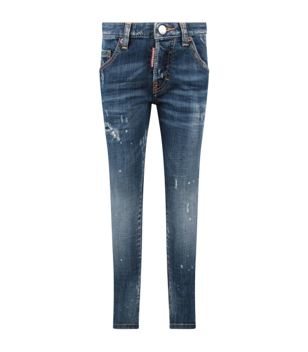 DSQUARED2 Light blue ''Skarter'' boy jeans with double DD