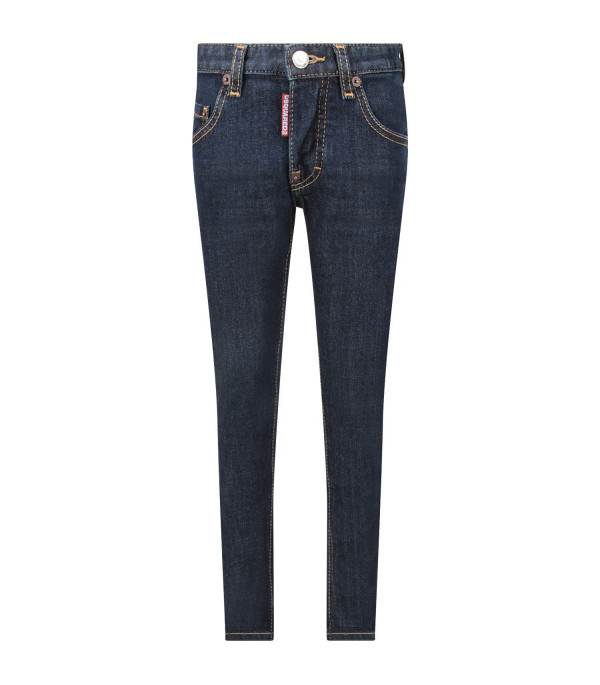 DSQUARED2 Blue ''Icon'' boy jeans with writing